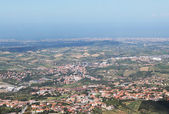 Beautiful panorama of the city in the mountains of San Marino — Stock Photo
