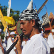 Face portrait of Balinese man with traditional sword — Stock Photo #73672517