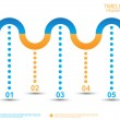 Timeline Infographic design template. — Stock Vector #60674109