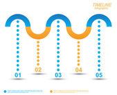 Timeline Infographic design template. — ストックベクタ