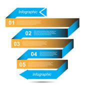 Infographic template design — Stock Vector