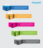 インフォ グラフィック デザイン テンプレート — ストックベクタ