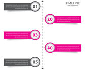 Timeline Infographic design template. — Stock Vector