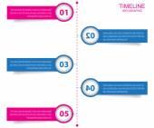 Zaman çizelgesi Infographic tasarım şablonu. — Stok Vektör