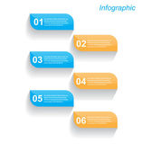 Infographic design template — Stock Vector