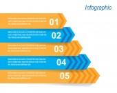 Infographic tasarım şablonu — Stok Vektör