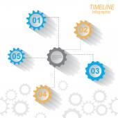 Kalendarium plansza projekt szablonu. — Stockvector