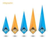 Modelo de design de infográfico — Vetor de Stock