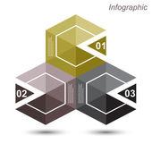 Infographic formgivningsmall med papper Taggar. — Stockvektor