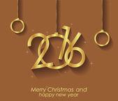 Gelukkig nieuw jaar en merry christmas. — Stockvector