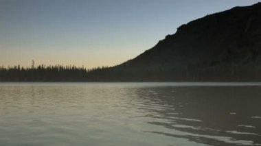 Misty Morning Lake — Stock Video