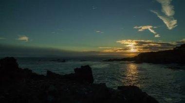 Seashore Time Lapse Sunset — Stock Video