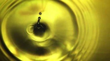 Yellow Water Drop — Stockvideo