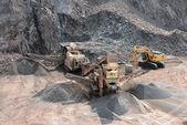 Stone crusher in surface mine — Stock Photo
