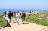 People visiting Brocken Mountain at Harz National Park (Germany) — Stock Photo