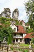 Cityscape of Tüchersfeld in franconia switzerland — Stock Photo