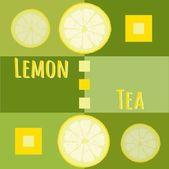 Lemon tea background — 图库矢量图片