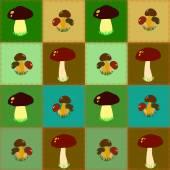 Bezszwowe grzyby jadalne — Wektor stockowy