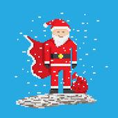 Superhero Santa — Stock Vector