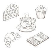 Dessert Collection — Stock Vector