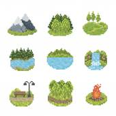 Nature Icon Set — Stock Vector