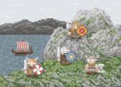 Vikings Landed — Vector de stock