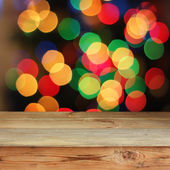 Wooden table against a side. — Stock Photo