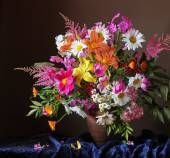 Bouquet of cultivated flowers — Stock Photo