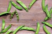 Pods of green peas — Stock Photo