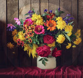 Still life with a beautiful bouquet — Stock Photo