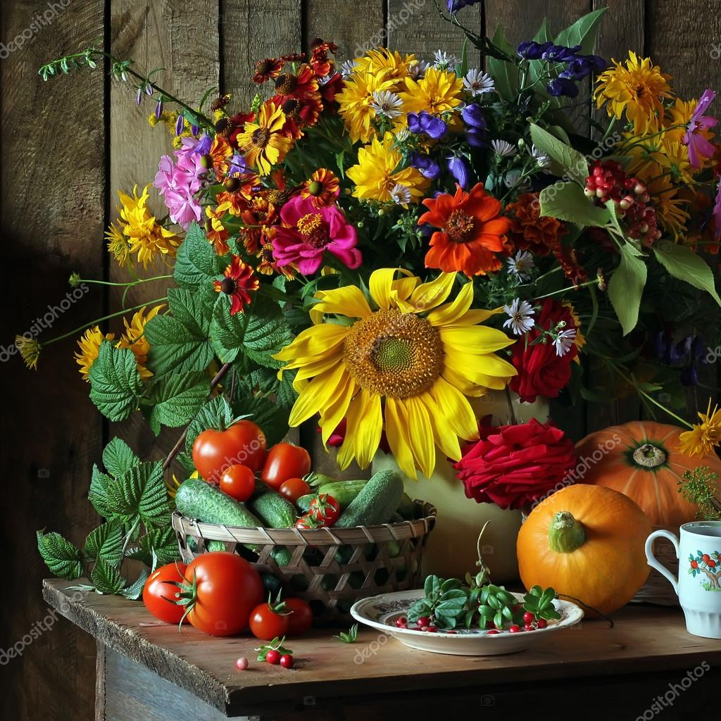 Красивые цветы и фрукты фото