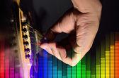 アコースティック ・ ギター演奏. — ストック写真