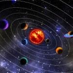 zonnestelsel — Stockfoto #78521158