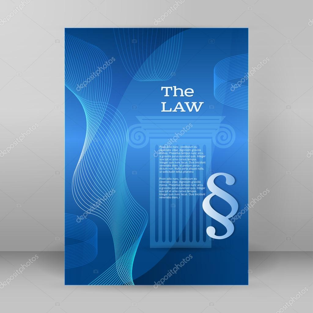 law business style presentation template format a cover page law business style presentation template format a4 cover page stock vector 108693914
