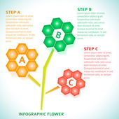 Infographics-Technical-flower-background-options-gradient — Stock Vector
