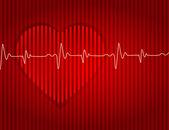 Medical-card-red-heart-background-effect-dented — Vetorial Stock