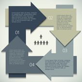 Infographics-arrows-circle-business-process-management — Stock Vector