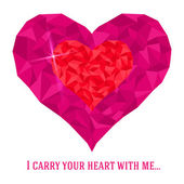 Valentine-day-love-I-carry-your-heart-in-me — Stock Vector