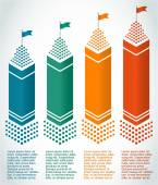 Real-estate-of-multi-storey-building-skyscraper-buildings — Stock Vector