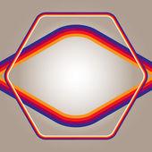 Beige-gradient-background-frame-color-bars — Stock Vector