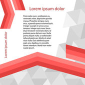 Page-template-gray-triangle-red-line-layout-booklet — Stock Vector