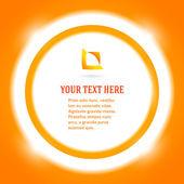 Round-frame-message-bright-orange-background — Stock Vector
