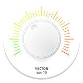 Adjust-volume-sound-music-plastic-3d — Stock Vector