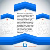 Blue-Line-page-template-presentation — Stock Vector