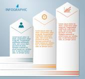 Infographics-template-layout-leaflet-presentation — Stock Vector