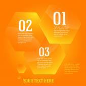 Infographics-template-layout-presentation-yellow-hexagon — Stock Vector
