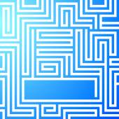 Maze-bright-light-blue-background — Stock Vector