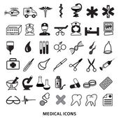 Set-of-icons-medicine-medical-care-pharmacy-health — Stock Vector