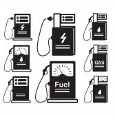 Set-of-icons-refueling-car-diesel-gas — Stock Vector