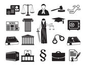 Legal-icon-set-law-attorney — Stockvektor